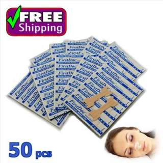 NEW Frist Doc Breathe Right TAN Nasal Strips 50Pcs M size STOP SNORE