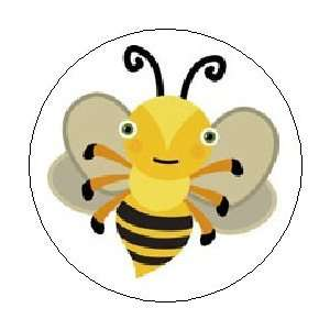 Black Pinback Button 1.25 Pin / Badge ~ Insect Honey Cute Wings Emo