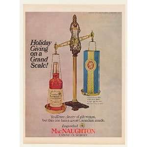 1966 MacNaughton Canadian Whisky Bottle Gift Scale Print