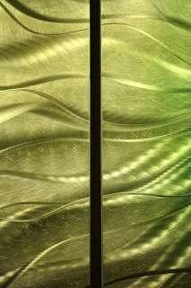 Modern Abstract Gold Painting Metal Wall Art Decor Sculpture Emerald