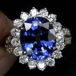 EXQUISITE AAA KASHMIR BLUE SAPPHIRE MAIN STONE 6.20 CT. 925 SILVER