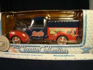 Die Cast Metal 1940 Ford Truck Pepsi Cola Logo piggy bank