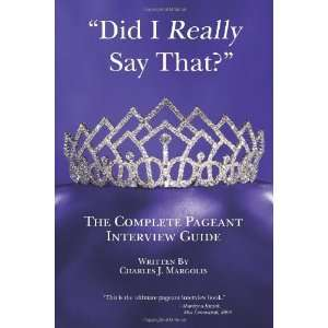 Pageant Interview Guide [Paperback] Charles J Margolis Books