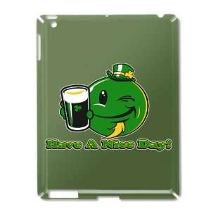 iPad 2 Case Green of Irish Have a Nice Day Smiley Face Beer St Patrick
