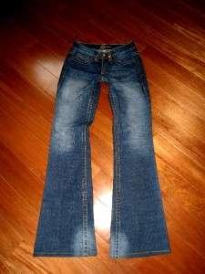BEBE Kayla 5 Pocket Crystal Studded Booty Logo Stretch Flare Jeans euc