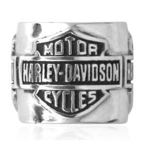Davidson® Sterling Silver Bar & Shield Ride Bead. HDD0032 Jewelry