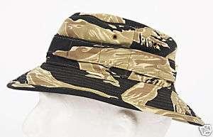 GOLDEN TIGER CAMO BOONIE CAP VIETNAM ERA ELITE FORCES