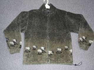 BORDER COLLIE SHEEP DOG FLEECE JACKET SIZE large