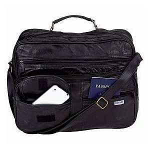 Italian Stone Design Genuine Leather Tote Traveling Bag
