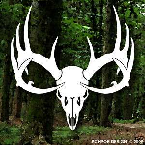 DEER SKULL Decal Buck hunting antlers big game rack bow