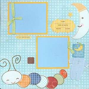 SWEET DREAMS BABY BOY premade scrapbook pages by SASSY Moon