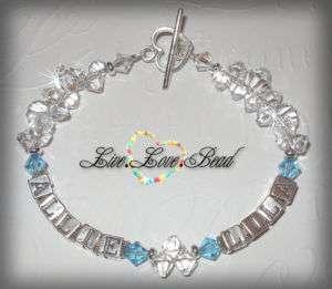 Swarovski Crystal Rock Candy Mothers 2 Name Bracelet