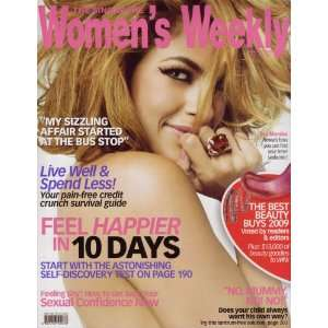 2009 Eva Mendes Womens Weekly Singapore Edition  Books