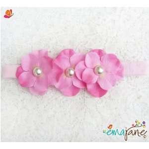 Pink)) Cute Triple Hydrangea Flowers on Headbands