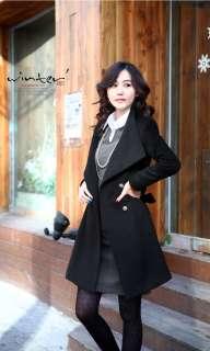 New Black Beige Gary Womens Warm Trench Jacket Coat with Belt