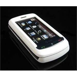 WHITE Hard Plastic Full View Rubber Feel Cover Case w/ Screen