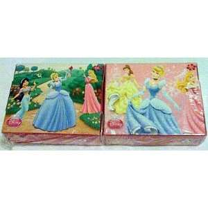 Aurora, Belle, Jasmine 50 Piece Mini Puzzles   Set of 2 Toys & Games