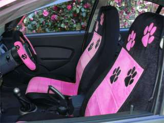 COOL SET OF DODGE NEON CAR SEAT COVERS BLK HOT PINK