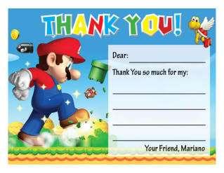 Set of 10 Super Mario Bros. Personalized Invitations