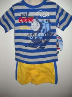 Thomas The Train Outfit Set Shirt Shorts 24M 3T 4T