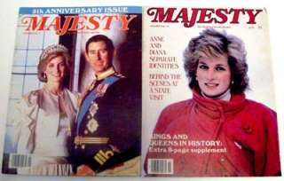 MAJESTY THE MONTHLY ROYAL REVIEW MAGAZINE LOT PRINCE CHARLES PRINCESS