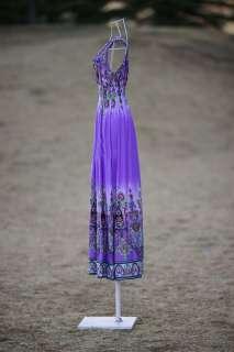 Roman summer long maxi dress party beach fashion d46