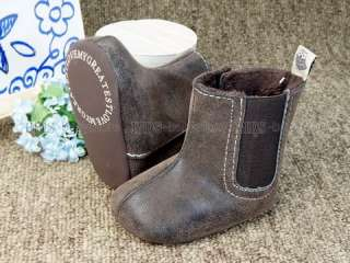 A272 new baby toddler boy girl brown boots shoes US 1 2