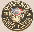 Sturgis Bike Week 2006 Patch Eagle Flag Motorcycle 2 1/2 inches iron