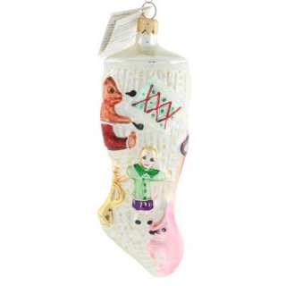 Rare Stocking Full Christmas Ornament Fireplace Toys Stuffer