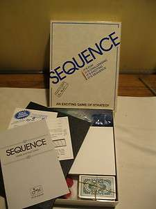 1995 Sequence Strategy Board Game by Jax Complete