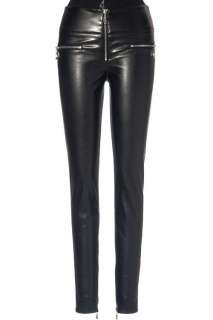 New Black Faux Stretch Leather Pant AU S XL W1582