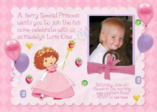 STRAWBERRY SHORTCAKE CUSTOM BIRTHDAY INVITATIONS