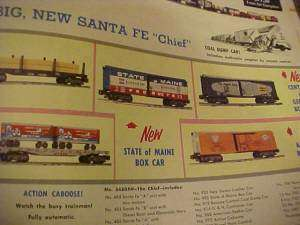 1956 CATALOG, GILBERT & AMERICAN FLYER TRAINS