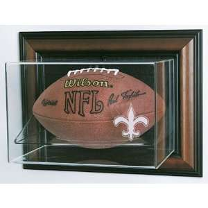 New Orleans Saints Nfl Case Up Football Display Case (Horizontal