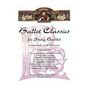 Ballet Classics for String Quartet Musical Instruments