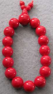 Red Stone Beads Tibet Buddhist Prayer Bracelet Mala