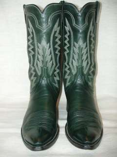 Handmade Mens Western/Cowboy Boots James Leddy Sz 9 6row Stitchin EXUC