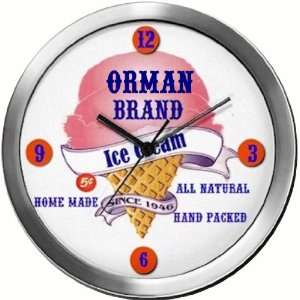 ORMAN 14 Inch Ice Cream Metal Clock Quartz Movement