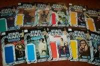 SET of 12 diff holders for 1977 STAR WARS toys.