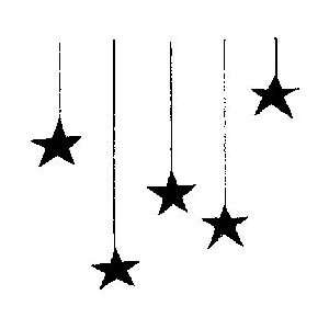 Penny Black Rubber Stamp 2.25X2.25 Star Shower: Home