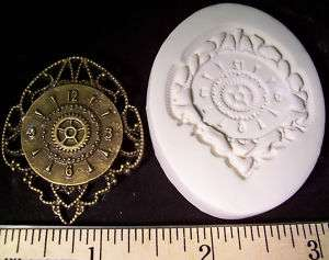 Steampunk Filigree Gear Clock Face Clay Push Mold Watch