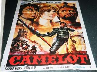 CAMELOT 67 R.HARRIS HUGE CLASSIC ITALIAN FILM POSTER