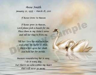 Personalized Memorial Poem For Loss Of Sister Memorial