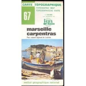 : Map 67 France Marseille Carpentras Carte Topographique: none: Books