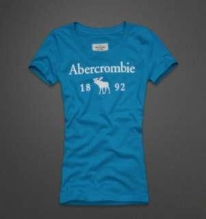 NWT Abercrombie Women Drew Graphic Tee Tshirt Turquoise