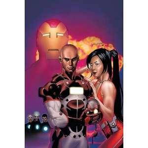 Invincible Iron Man #5 Cover Iron Man, Stane and Ezekiel