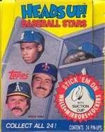 1990 Topps Heads Up Baseball Wax Box