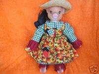 1996 Goebel Carol Anne Festive Fall Pig Doll 20 LE