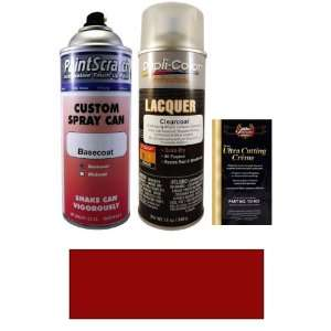 12.5 Oz. Medium Red Metallic Spray Can Paint Kit for 2001 Cadillac All