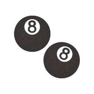 Black 8 Ball Plush Fuzzy Decal   Fuzzeez Black 8 Ball Plush Fuzzy Deca